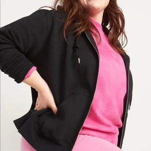 Old Navy Black Vintage Zip Front Hoodie Sweatshirt